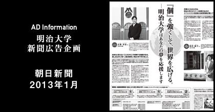 朝日新聞2013年1月 掲載