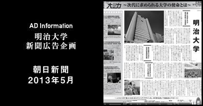 朝日新聞2013年5月 掲載